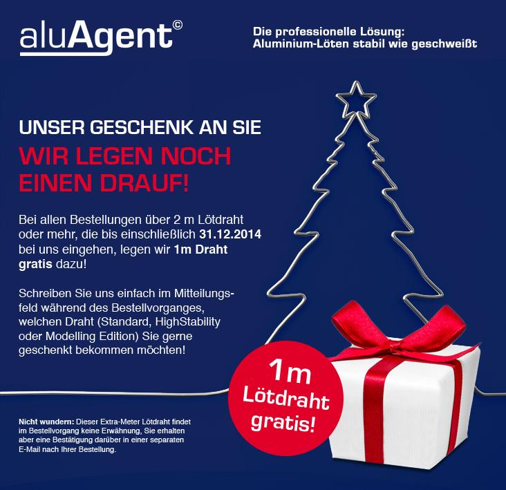 aluAgent - Weihnachtsgeschenke bis 31.12.2014!